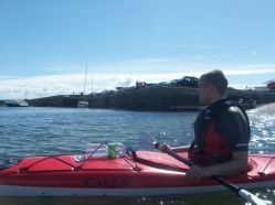Taking our Kayaks for a spin on the Atlantic