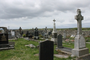 A graveyard in Connemara